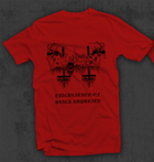 ANAL BLASPHEMY: Ejaculation of Black Impurity t-shirt RED