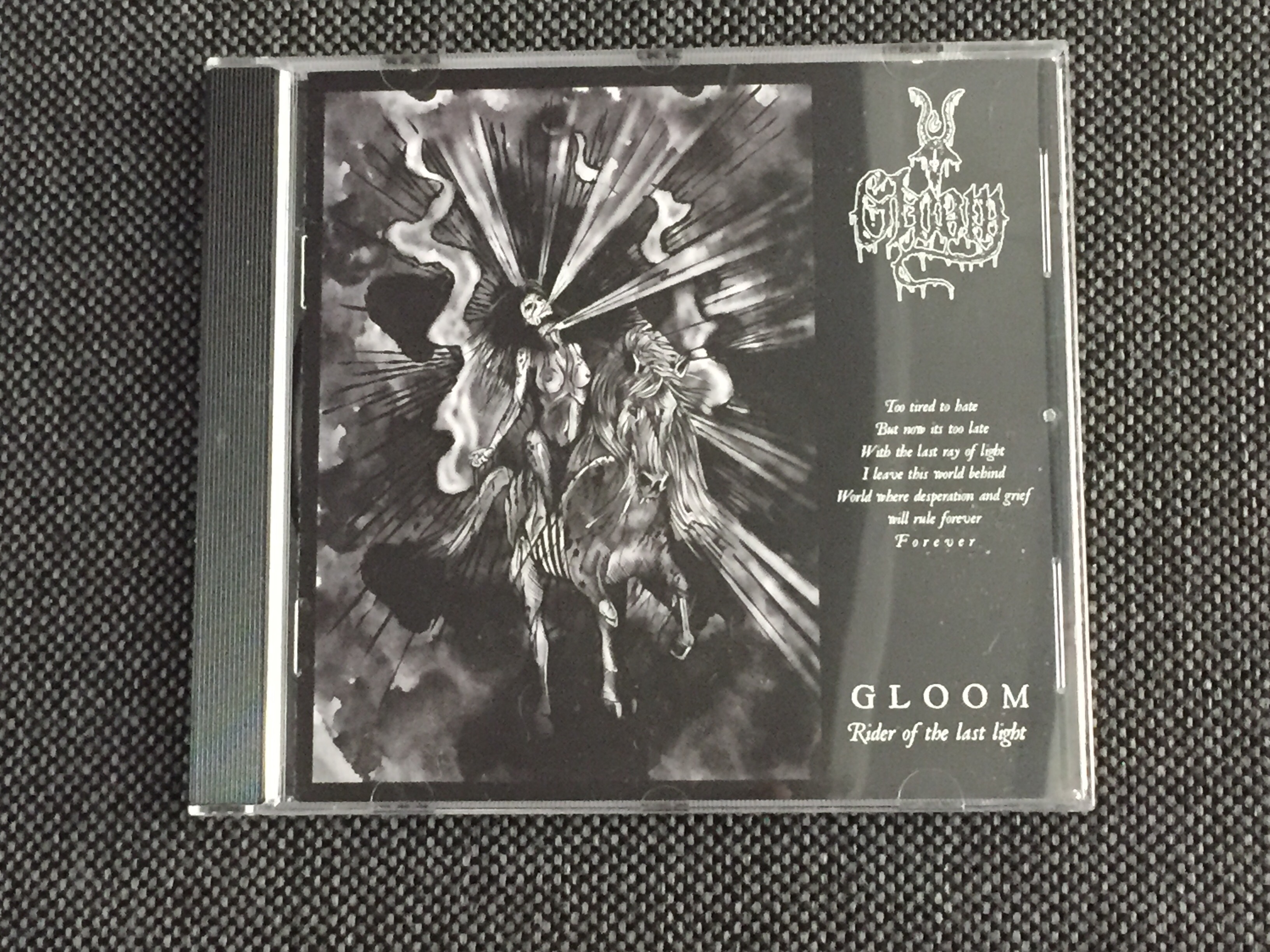 GLOOM: Rider of the Last Light, CD