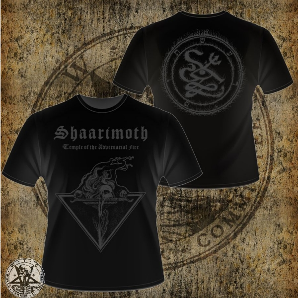 SHAARIMOTH: temple of the adversarial fire t-shirt L